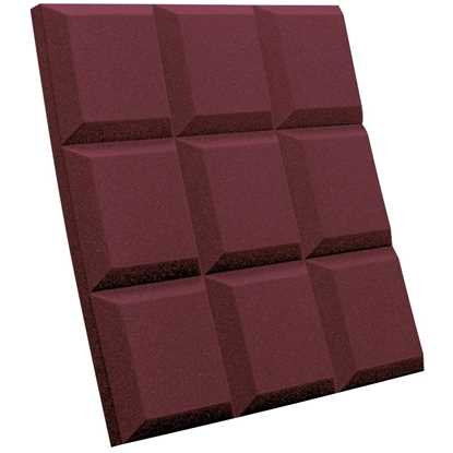 """Auralex SonoFlat Grid 2"""" Burgundy"""