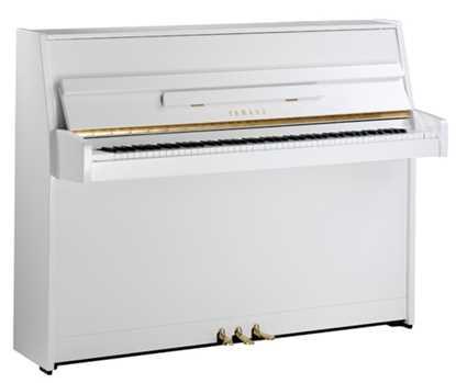 yamaha piano b1 polerad vit vitt