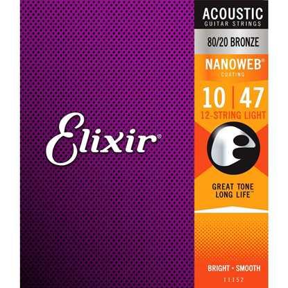 Elixir Nanoweb® Bronze Light 010-047 12-String
