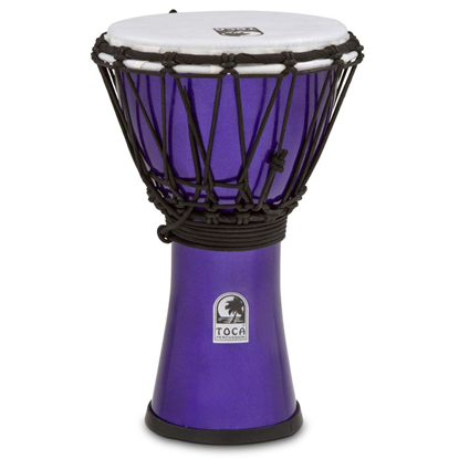 "Bild på Toca Freestyle Colorsound 7"" Djembe  Metallic Indigo"