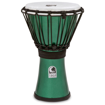"Bild på Toca Freestyle Colorsound 7"" Djembe  Metallic Green"