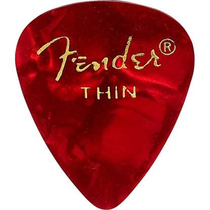 Fender 351 Shape Premium Thin Red - 12 Pack plektrum