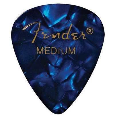 Fender 351 Shape Premium Medium Blue - 12 Pack plektrum