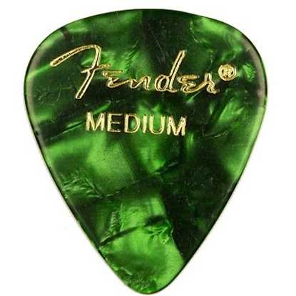 Fender 351 Shape Premium Medium Green - 12 Pack plektrum