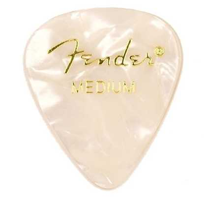Fender 351 Shape Premium Medium White - 12 Pack plektrum
