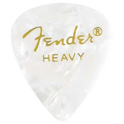 Fender 351 Shape Premium Heavy White - 12 Pack plektrum