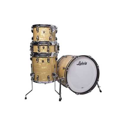 Ludwig Club Date Downbeat 20 Shell Pack - Aged Onyx