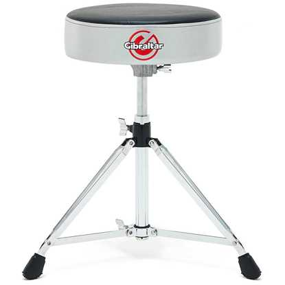 Gibraltar Double Braced Round Drum Throne – Grey Silver Finish 6608RSG trumstol pall stol