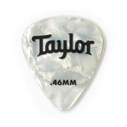 Taylor 351 Shape Premium Celluloid White Pearl 0.46mm - 12 Pack Plektrum
