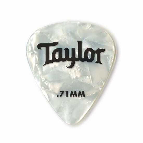 Taylor 351 Shape Premium Celluloid White Pearl 0.71mm - 12 Pack plektrum