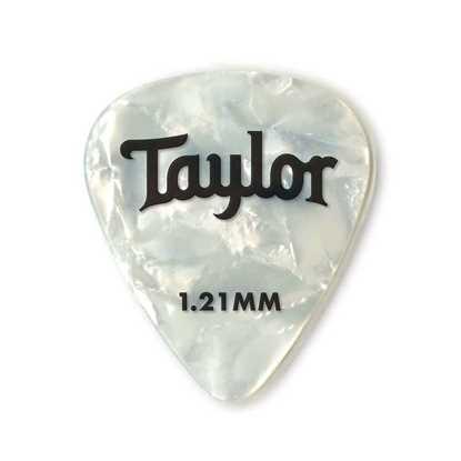 Taylor 351 Shape Premium Celluloid White Pearl 1.21mm - 12 Pack plektrum