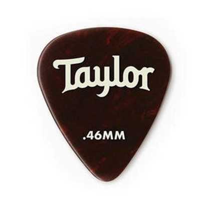 Taylor 351 Shape Premium Celluloid Tortoise Shell 0.46mm - 12 Pack plektrum