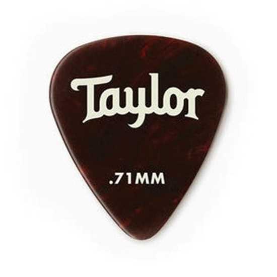 Taylor 351 Shape Premium Celluloid Tortoise Shell 0.71mm - 12 Pack plektrum