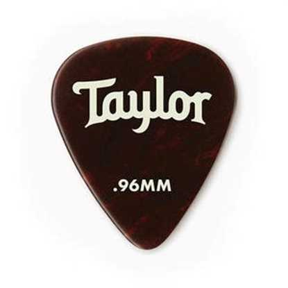 Taylor 351 Shape Premium Celluloid Tortoise Shell 0.96mm - 12 Pack plektrum