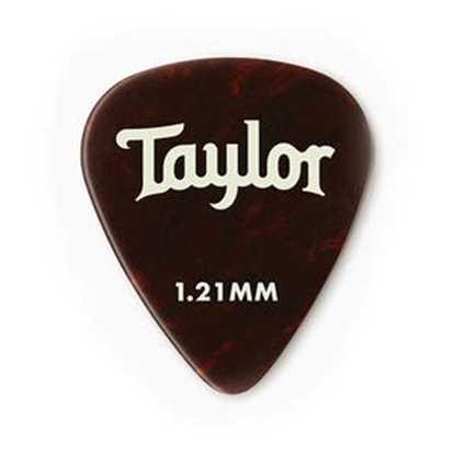 Taylor 351 Shape Premium Celluloid Tortoise Shell 1.21mm - 12 Pack plektrum