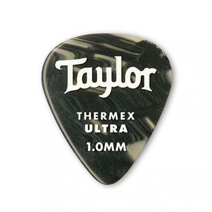 Taylor 351 Shape Premium Thermex Ultra Black Onyx 1.0mm - 6 Pack plektrum