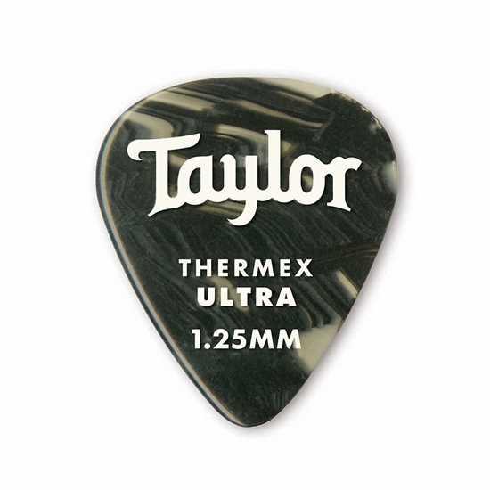Taylor 351 Shape Premium Thermex Ultra Black Onyx 1.25mm - 6 Pack plektrum