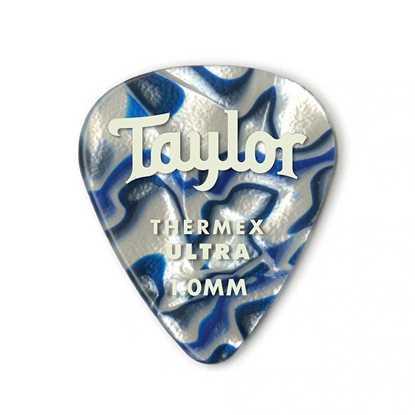 Taylor 351 Shape Premium Thermex Ultra Blue Swirl 1.0mm - 6 Pack plektrum