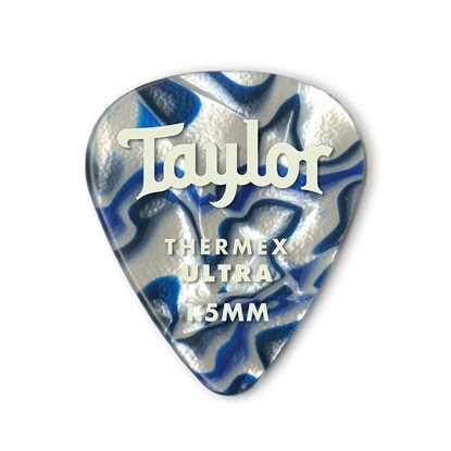 Taylor 351 Shape Premium Thermex Ultra Blue Swirl 1.5mm - 6 Pack plektrum