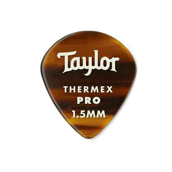 Taylor 651 Shape Premium Thermex Pro Tortoise Shell 1.5mm - 6 Pack plektrum