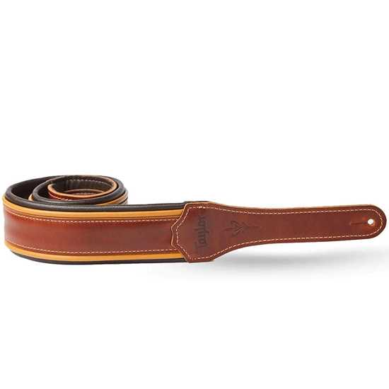 """Taylor Century 500 Series Leather Medium Brown/Butterscotch/Black 2.5"""" Axelband"""