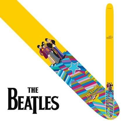 Perri's Leather Beatles Yellow Multi Axelband