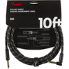 Fender Deluxe Series Instrument Cable 10' Angled Black Tweed