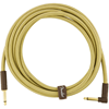 Fender Deluxe Series Instrument Cable 10' Angled Tweed