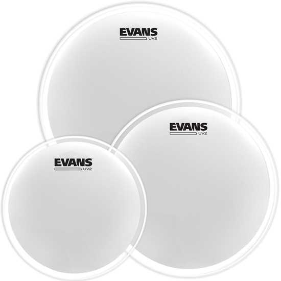 "EVANS UV2 10""/12""/16"" Coated ETP-UV2-R Trumskinnpaket"