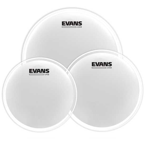 """EVANS UV2 12""""/13""""/16"""" Coated ETP-UV2-S Trumskinnpaket"""