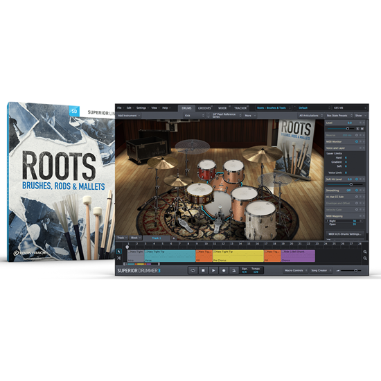 Toontrack SDX Roots Brushes Rods Mallets