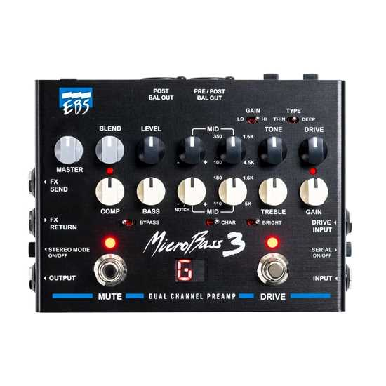 EBS MicroBass 3 – Professional Outboard Preamp