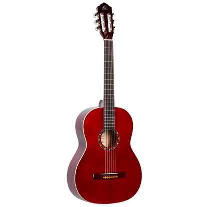 Ortega R121SN Wine Red Akustisk Nylonsträngad Gitarr