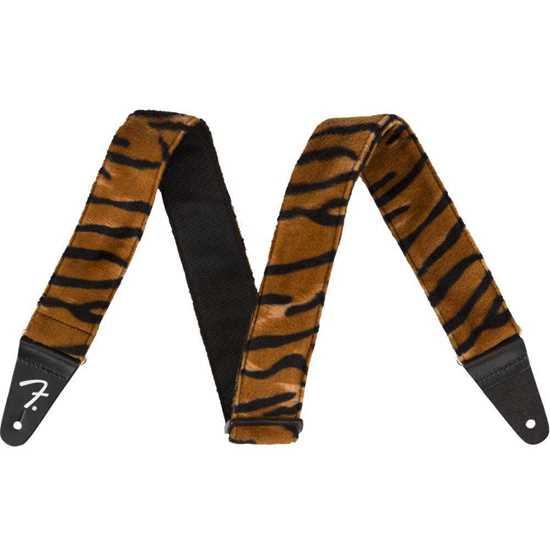 "Fender 2"" Wild Tiger Print Axelband"