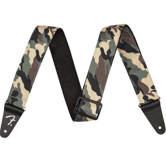 "Fender 2"" Woodland Camo Strap"