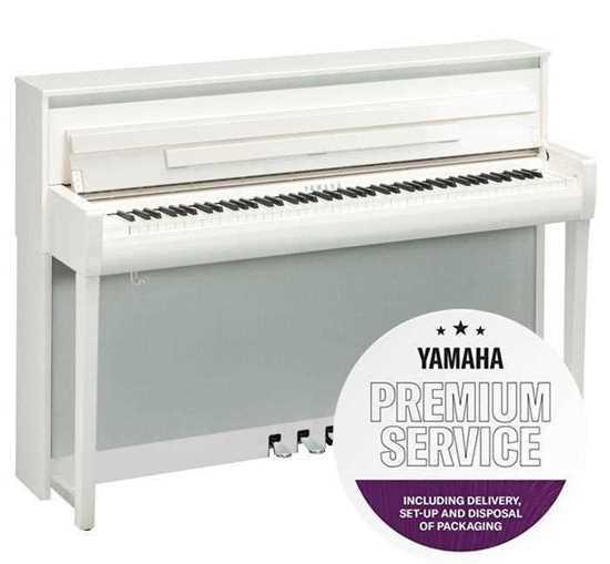 Yamaha CLP-785 Blankpolerad Vit