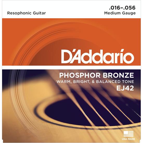 D'Addario EJ42 Phosphor Bronze Resophonic