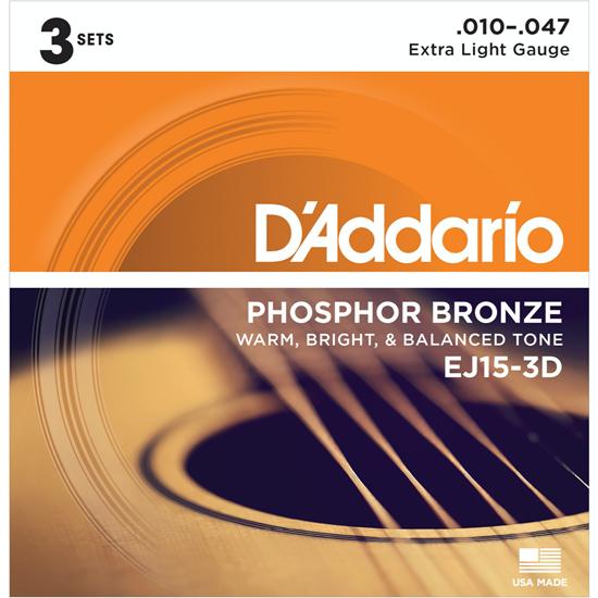 D'Addario EJ15-3D Phospor Bronze