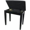 Pulse Pianopall Med Notlåda Matt Svart