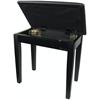 Pulse Pianopall Med Notlåda Polerad Svart
